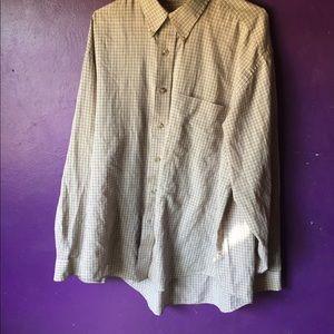 Van Heusen Large Checkered Dress Shirt 16-16 1/2